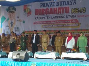 Pawai Budaya HUT  ke 73 Lampung Utara