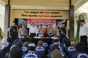 Dua Minggu Operasi Sikat Krakatau 2019, Polres Lampung Utara Ringkus 40 Pelaku Kejahatan