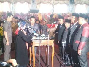 Pimpinan DPRD Lampung Utara Dilantik