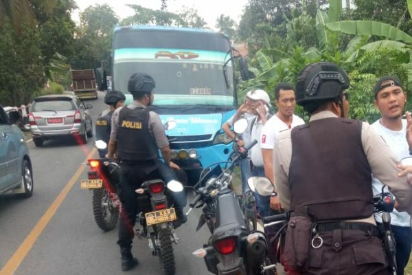 Letusan Jerigen Berisi Bahan Kimia Di Bus RBU Lukai 5 Penumpang