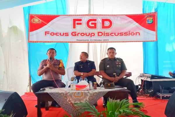 Jelang Pelantikan Presiden Polres Tulangbawang Gelar FGD