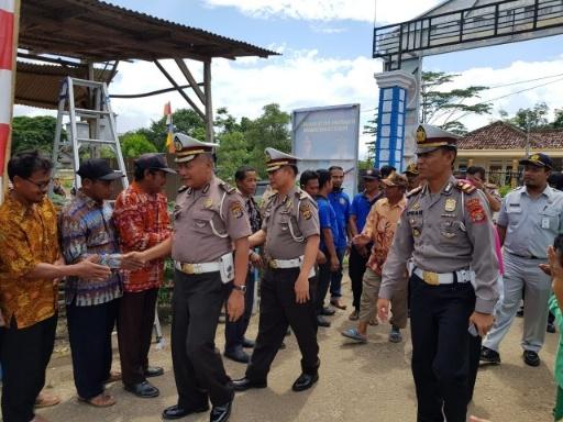 Ditlantas Polda Lampung Asistensi Kampung Tri Tunggal Jaya Tulang Bawang Tertib Lalu Lintas