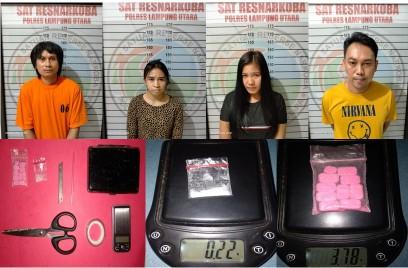 Alamak, PNS dan 3 Rekannya Diciduk Tim Cobra Polres Lampung Utara