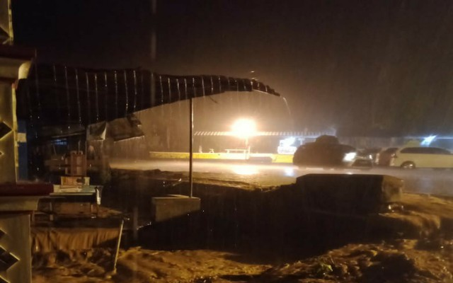 Hujan Deras Jalinbar Tanggamus Putus Total Akibat Banjir dan Longsor