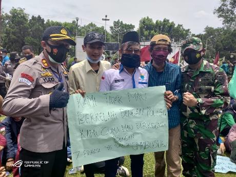 Kapolres Lampung Utara Apresiasi Aksi Damai Aliansi Lampung Utara Bergerak
