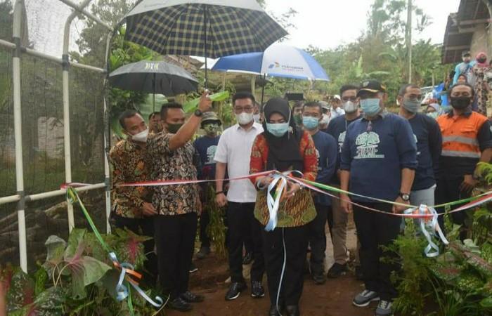 Bupati Dewi Handajani Apresiasi Kegiatan Peduli Lingkungan DPC HIPMI Tanggamus