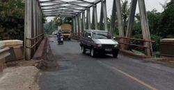 Jembatan Jalan Lintas Sumatera di Desa Aji Kagungan Lampung Utara Terancam Ambrol
