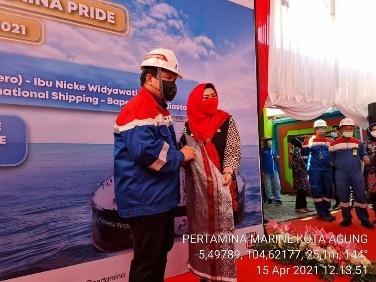 Menteri BUMN Erick Thohir Kunjungi Tanggamus Tinjau Kapal Tangker VLCC