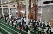 Tarawih Pertama di Masjid Al Furqon Bandar Lampung