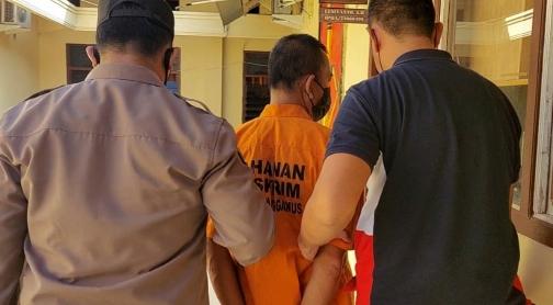 Satreskrim Polres Tanggamus Tetapkan  MS Mantan Pejabat Pekon Terdana Sebagai Tersangka