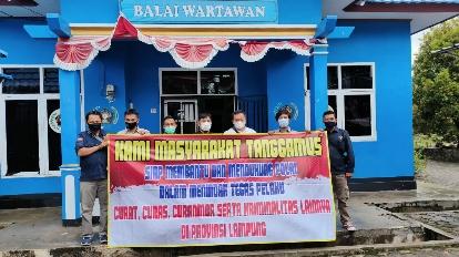 Silaturahmi Kamtibmas Direktorat Intelkam Polda Lampung ke PWI Tanggamus