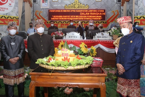 Paripurna Istimewa HUT Kabupaten Lampung Utara ke-75