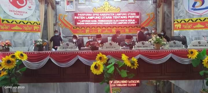 Ucapan Terimakasih Bupati kepada DPRD Lampung Utara