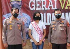 Gerai Vaksin Presisi Polda Lampung, Target 100% Akhir Desember